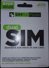 Brand New Unopened Unused Simple Mobile Byop Dual Sim Card