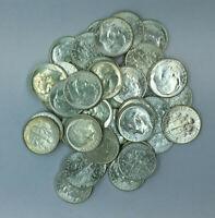 (Lot of 5) Different Date GEM Uncirculated BU 90% Silver Roosevelt Dimes