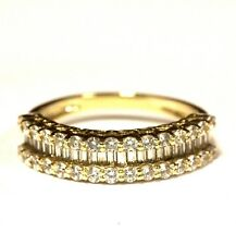 14k yellow gold cubic zirconia CZ vintage anniversary wedding band ring 3g 7