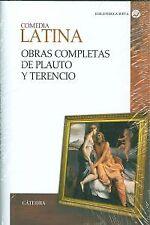 Comedia latina. Obras completas de Plauto y Terencio. ENVÍO URGENTE (ESPAÑA)