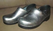 Dansko Womens Size EUR 41 Metallic Silver Leather Clogs Shoes Size US 8 NURSING