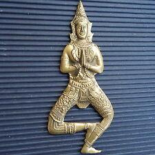 Divinité Bronze Doré Thaïlande Décapsuleur Beaux Reliefs 12 x 5 Cm - 73 Grs