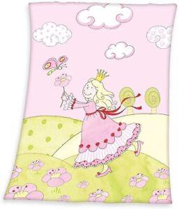 Decke Baby Anneli Mikrofaserflausch 75x100 cm pink