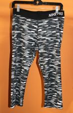 NIKE PRO  DRI FIT  Women's CAMO  Workout CASUAL CAPRI Leggings Pants - Size XL