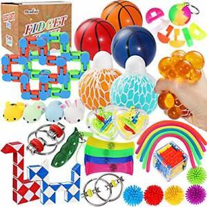 Max Fun 36 Pack Sensory Fidget Toys Set Stress Relief Anti-Anxiety Tools Toys