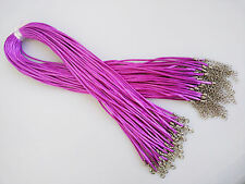 "50pcs 2mm Satin Silk Necklace Cord 18''-24"" Adjustable Length Lead & Nickel free"