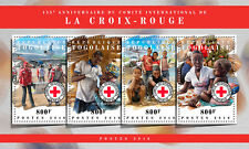 Togo 2018 MNH Red Cross 155th Anniv 4v M/S Medical Health Stamps