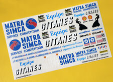 GITANES Race Team Transporter SLOT CAR 32nd SCALE Decals Stickers SCALEXTRIC