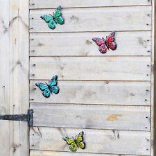 FARFALLE - 12x da giardino in metallo colorato ornamenti, RECINZIONE, capannone o Wall Art