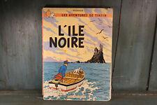 HERGE les aventures de Tintin L ' ILE NOIRE 1947 casterman