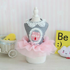 Pet Dog Dress Tutu Skirt For Small Dogs Coat Puppy Cat Lace Dresses Costume New