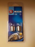 4 x 5W 12v Sidelight Tail Number Plate Car Bayonet Light Bulbs Set BA15s