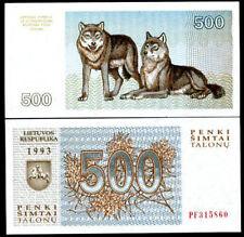 Lithuania 500 talonu 1993 p 46 unc