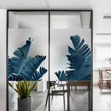 Tropical Plants Window Sticker Glass Sticker 3D PVC Glass Film Privacy Decor