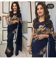 Saree Sari Pakistani Bridal Indian Bollywood Designer Weeding Party Wear k