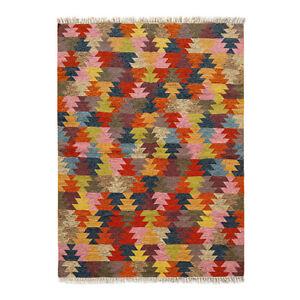 Hand Woven Wool Rug Turkish Kilim Dhurrie Afghan Oriental Area Rug 5'X8' ft