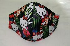 Hello Kitty Face Mask Adult Size with 2-Layers Filter Pocket Option Tropical