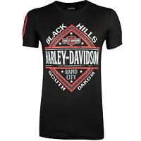 Black Hills Harley-Davidson® Men's Rise Up Black Short Sleeve T-Shirt