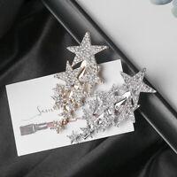 Metal  Small Star Crystal Hairgrip Barrettes Hair Clips Rhinestones Hairpins