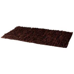 100% Cotton Chenille Jumbo Loop in Chocolate Brown 50cm x 130cm