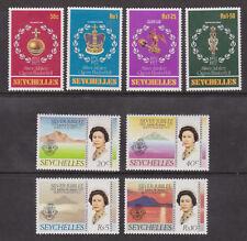 QEII 1977 Silver Jubilee MNH Stamp Set Seychelles SG 393-400