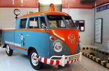 LGB 1:24 Escala Vw T1 Vidrio Dividido Doble Cabina Modelo Servicio Camioneta