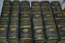 Histoire de France depuis la Monarchie / Daniel / 1720 / 6 gros volumes / Ref M2