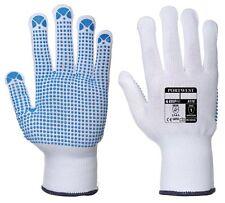 Nylon Polka Dot Gloves - White/Blue - Large - Pack of 12 A110WBRLA PORTWEST
