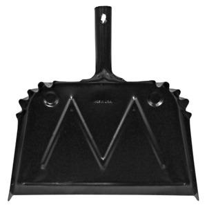 16 In. W Metal Black Scope Dust Steel Long-Lasting Durability Pan