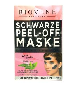 BIOVÈNE Black Peel-Off Gesichtsmaske Grüntee/Papaya/Hamamelis 30 Anwendungen