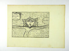 PLAN VON DIKSMUIDE QUENOKE FLANDERN BELGIEN KUPFERSTICH BEAULIEU 1665 #D857S