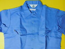NWOT Topps Safety Apparel Fire Wear Light Blue S/S Uniform Work Shirt L 16-16.5