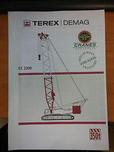 Terex Demag CC2200 Crane Manual