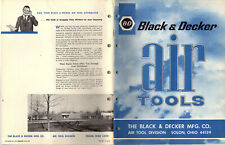 Black & Decker Air Tools 1966 Catalog Wrenches Drills Grinders Sanders Etc