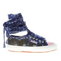 ALANUI scarpe donna Sneaker Superga x Alanui canvas multicolore bandana chiffon
