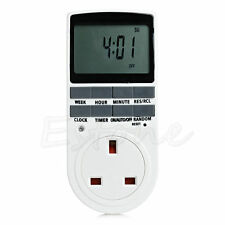 12/24 Hour LCD Digital Electronic Plug-in Timer Programmable Switch Socket UK