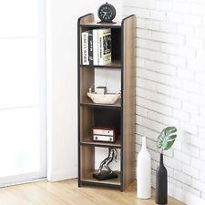 Corner Shelves Book Media Flower Stand Floor Small Bookcase Organizer Modern