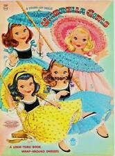 Vintage Uncut 1956 Umbrella Girls Paper Dolls Reproduction~Fantastic Set/Pretty!