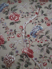 "WILLIAM MORRIS CURTAIN FABRIC ""Tangley"" 3.8 METRES MANILLA/WOAD 100% LINEN"