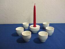6 Eierbecher + Kerzenhalter Rosenthal Porzellan Classic Rose weiß