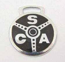 Vintage AC Shelby Steering Wheel Design Metal Key Ring Fob - Rare