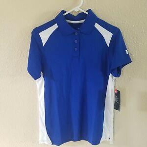 Under Armour Polo S Heat Gear Shirt Loose Button Team Athletic Golf Tennis