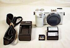 Sony Alpha Sony a6000 24.3 MP Digital SLR Camera - White (Body Only)