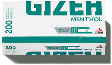 1000 (5x200) GIZEH Menthol (Hülsen, Filterhülsen, Zigarettenhülsen)