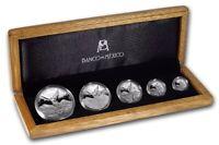 2018 • 5-Coin Casa De Moneda Mexico Libertad Proof Silver Set • Box & COA BU!