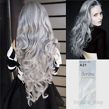 Berina A21, Hair Color Cream with Light Gray Color, Permanant Super Hair Dye