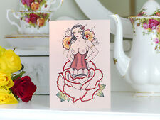 ROSE Pin Up girl tattoo alternativa CARTA SAN VALENTINO