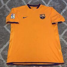 Barcelona Lejos Camiseta De Fútbol 2006/07 Extra Grande Adulto Xl Nike Vintage Orange