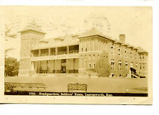 Soldiers Home Building-Leavenworth-Kansas-RPPC-1909 Vintage Real Photo Postcard