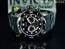 NEW Invicta Men's 48mm PRO DIVER SCUBA COMBAT TRIPLE BLACK Stainless Steel Watch